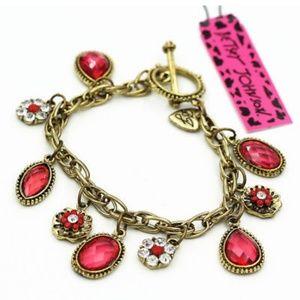 Betsey Johnson Red Charm Bracelet